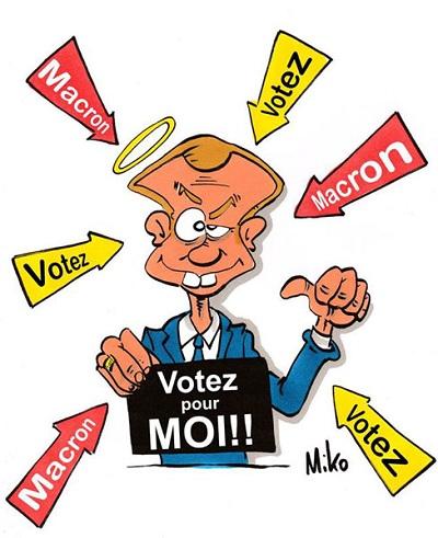 caricature Macron
